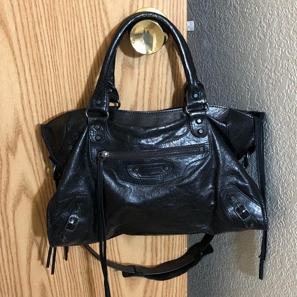 b0d3344372 Balenciaga Handbags - Balenciaga City Bag CLASSIC Black w  Strap